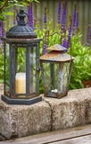 Rusty garden lanterns Royalty Free Stock Images