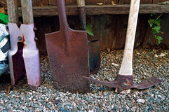 Rusty Garden Tools Royaltyfria Bilder