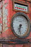 Rusty Gas Pump Needs Work antico Nonfunctioning Fotografia Stock