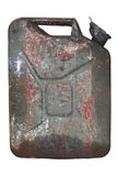 Rusty gasoline canister Royalty Free Stock Photos