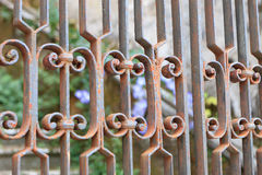 Rusty gate Stock Photo