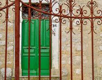 Rusty gate close up royalty free stock photo