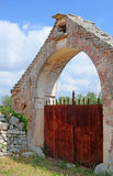 Rusty gate, Italy Stock Image