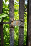 Rusty gate stock image