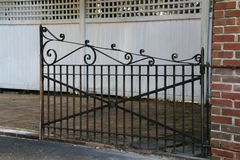 The rusty gate. Royalty Free Stock Photo