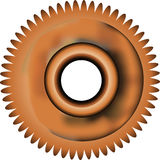 Rusty Gear 1. An illustration of a rusting gear vector illustration