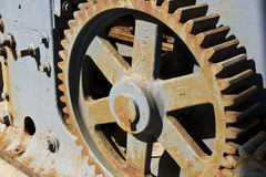 Rusty gear. Gears from a brick press Royalty Free Stock Image