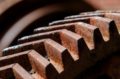 Rusty gear Stock Photo
