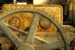 Rusty gear closeup hdr photo Stock Photos