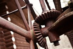 Rusty gear drive Stock Images