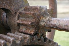 Rusty gear wheels Royalty Free Stock Photos