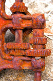 Rusty gearbox. Old technology historical Royalty Free Stock Images