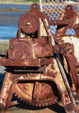 Rusty Gearing. On a old wharf cable puller Royalty Free Stock Image