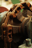 Rusty gears. The rusty old gear chain above are Stock Images