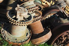 Rusty gears. Old rusty gears of the machine Royalty Free Stock Images