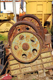 Rusty gears. Old rusty gears of the machine Stock Image