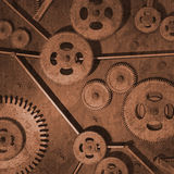 Rusty Gears. Various rusty metal gears on a background Stock Image