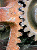 Rusty gears. Cogs in an outdoor museum Stock Photos