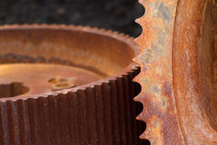Rusty Gears Closeup royalty free stock image