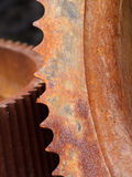 Rusty Gears Closeup royalty free stock photography