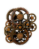 Rusty Gears Isolated Royalty-vrije Stock Foto