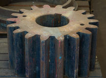 Rusty gears machined and industry Stock Image