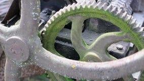 Rusty gears stock footage