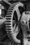 Rusty gears and winch mechanism Fort Alexander Stock Photography