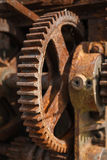 Rusty gears and winch mechanism Fort Alexander Royalty Free Stock Image