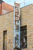 Rusty Georgetown assina dentro o Washington DC Imagem de Stock