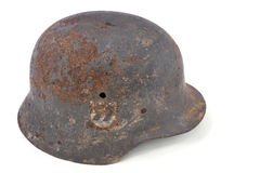 Rusty German Battle Helmet Stock Photography