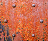 Rusty girder with bolts Royalty Free Stock Photos