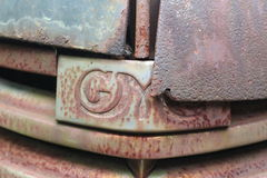 Rusty gmc logo Royalty Free Stock Photo