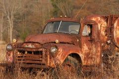 Rusty GMC Tanker Stock Photo