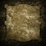 Rusty golden plate royalty free stock photos