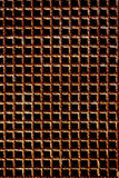 Rusty grate. Pattern of a rust grate stock photography
