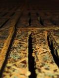 Rusty grate. Very rusty lattice of drainage system Stock Photo