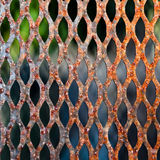 Rusty Grate. A metal grate with a rusty texture royalty free stock image