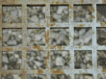 Rusty Metal Grate Background. Texture rust pattern Stock Photos