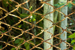 Rusty Grating Fence imágenes de archivo libres de regalías