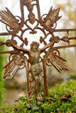 Rusty graveyard crucifix Royalty Free Stock Images