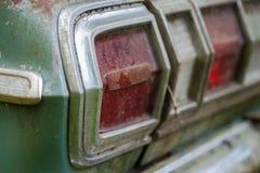 Rusty green car stock photography