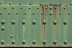 Rusty green metal plate Stock Images