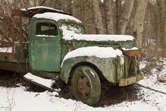 Rusty Green Truck Stock Photography