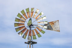 Rusty Green Windmill Royalty Free Stock Photography