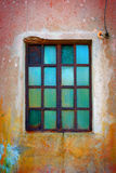 Rusty Green Window Royalty Free Stock Image