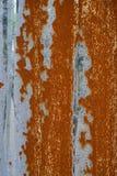 Rusty Grey Zinc Stock Photography
