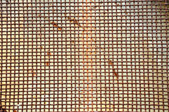 Rusty grid iron screen Stock Photography