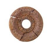 Rusty Grinding Disc aisló en la trayectoria de recortes blanca del fondo fotografía de archivo libre de regalías