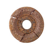 Rusty Grinding Disc isolated on white Background clipping path Royalty Free Stock Photography